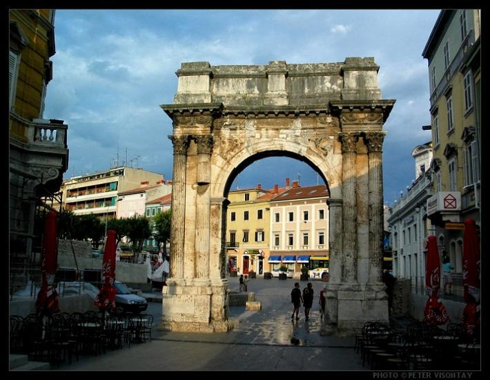 Pula Croatia Istria Blue Istria